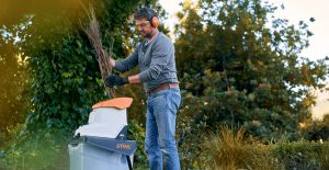 garden shredder mulch stihl